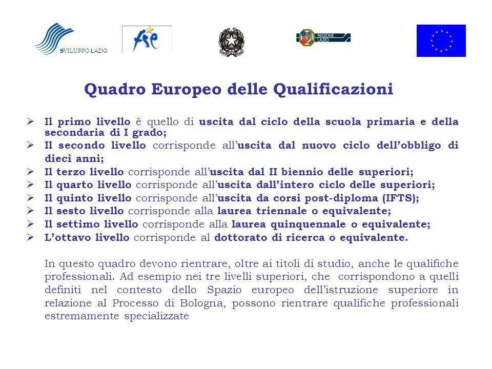 Quadro Europeo delle Qualificazioni
