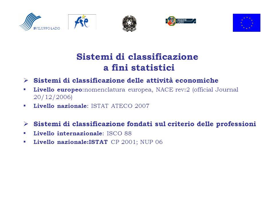 Sistemi di classificazione a fini statistici