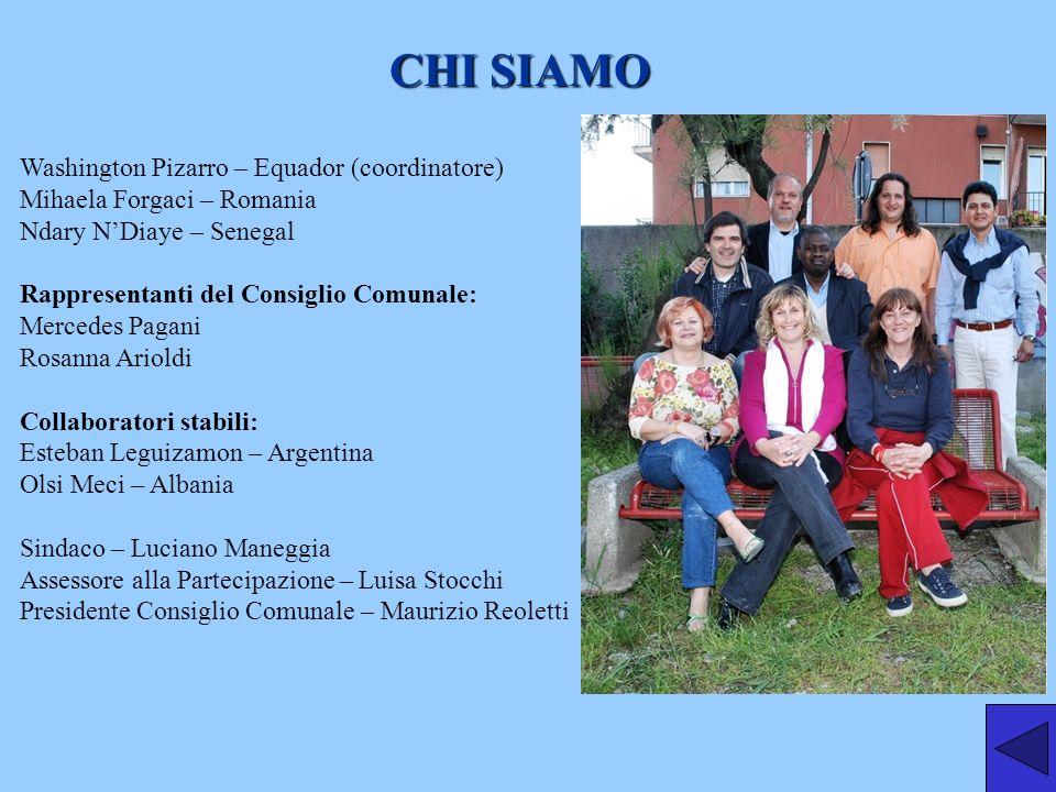 CHI SIAMO Washington Pizarro – Equador (coordinatore)