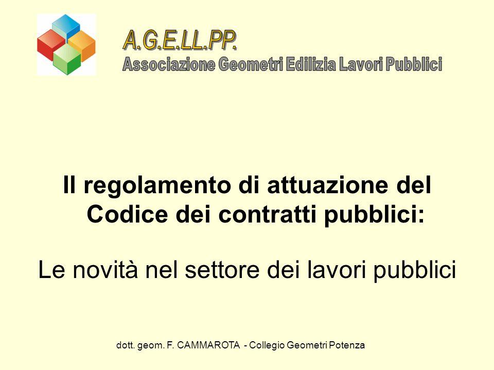 Il regolamento di attuazione del Codice dei contratti pubblici: