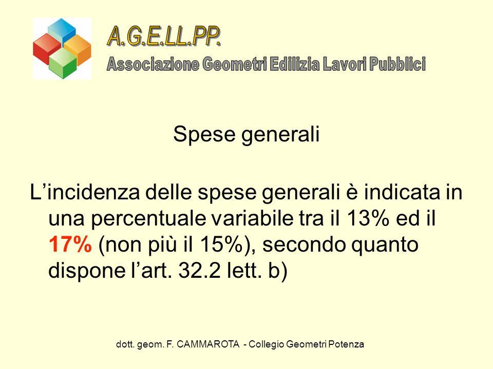 A.G.E.LL.PP. Spese generali