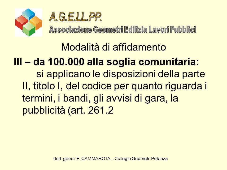 A.G.E.LL.PP. Modalità di affidamento