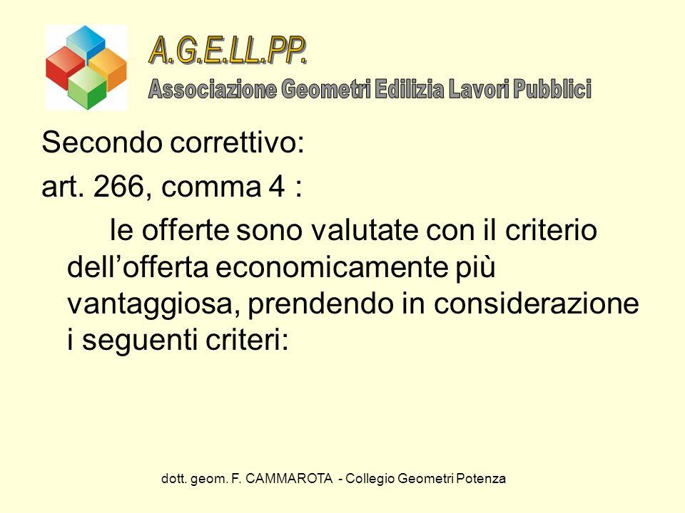 A.G.E.LL.PP. Secondo correttivo: art. 266, comma 4 :