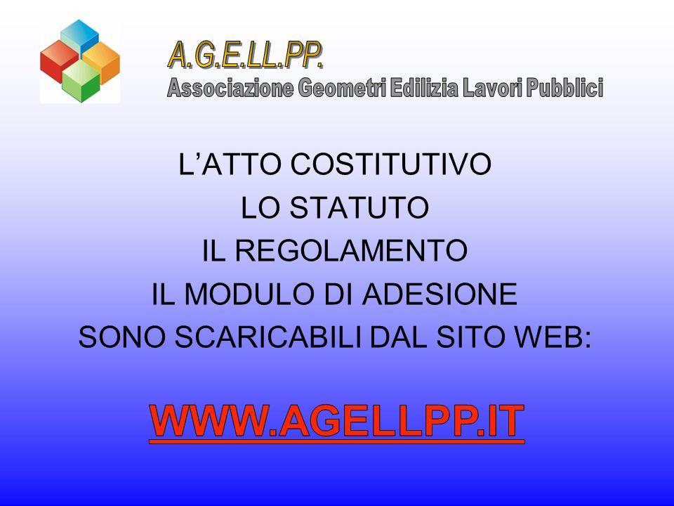 WWW.AGELLPP.IT A.G.E.LL.PP. L'ATTO COSTITUTIVO LO STATUTO
