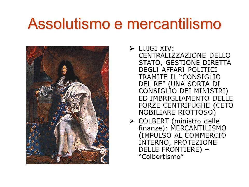 Assolutismo e mercantilismo