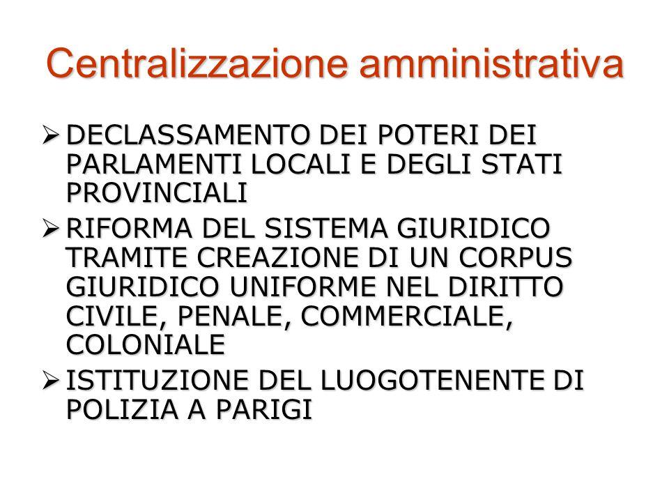 Centralizzazione amministrativa