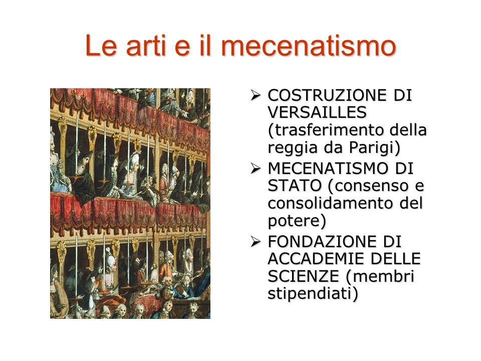 Le arti e il mecenatismo