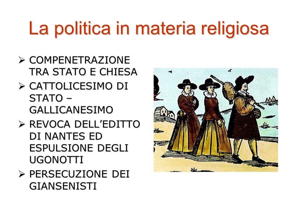 La politica in materia religiosa