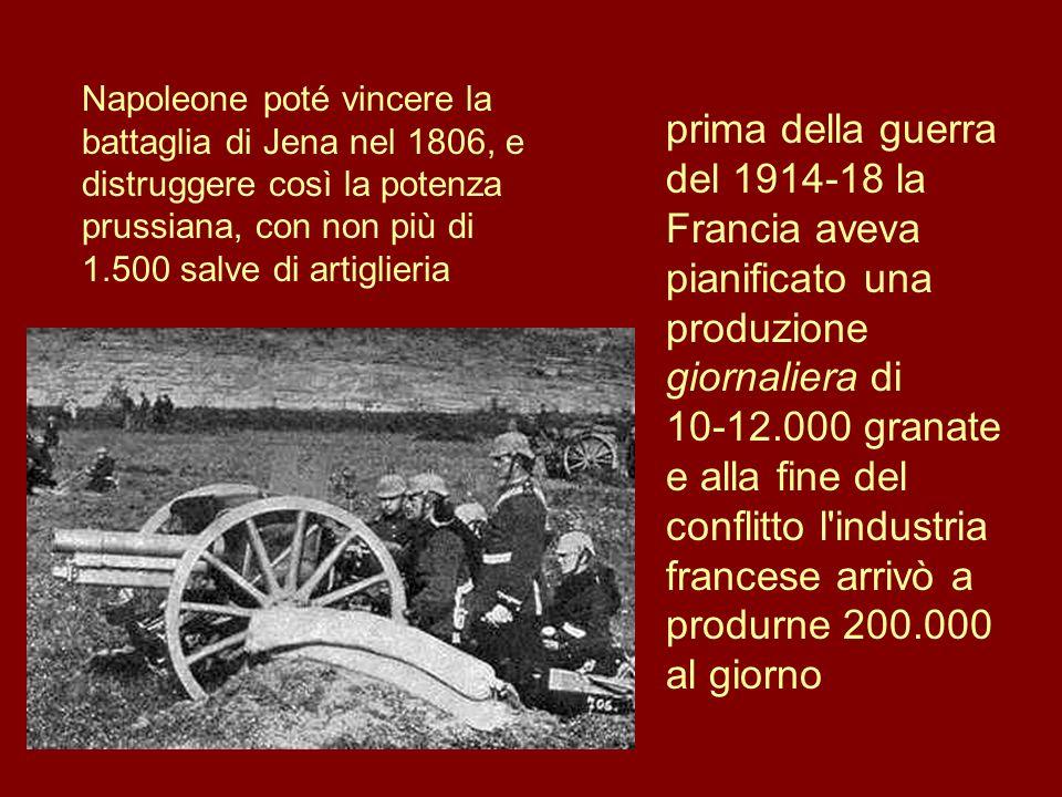 Napoleone poté vincere la battaglia di Jena nel 1806, e distruggere così la potenza prussiana, con non più di 1.500 salve di artiglieria