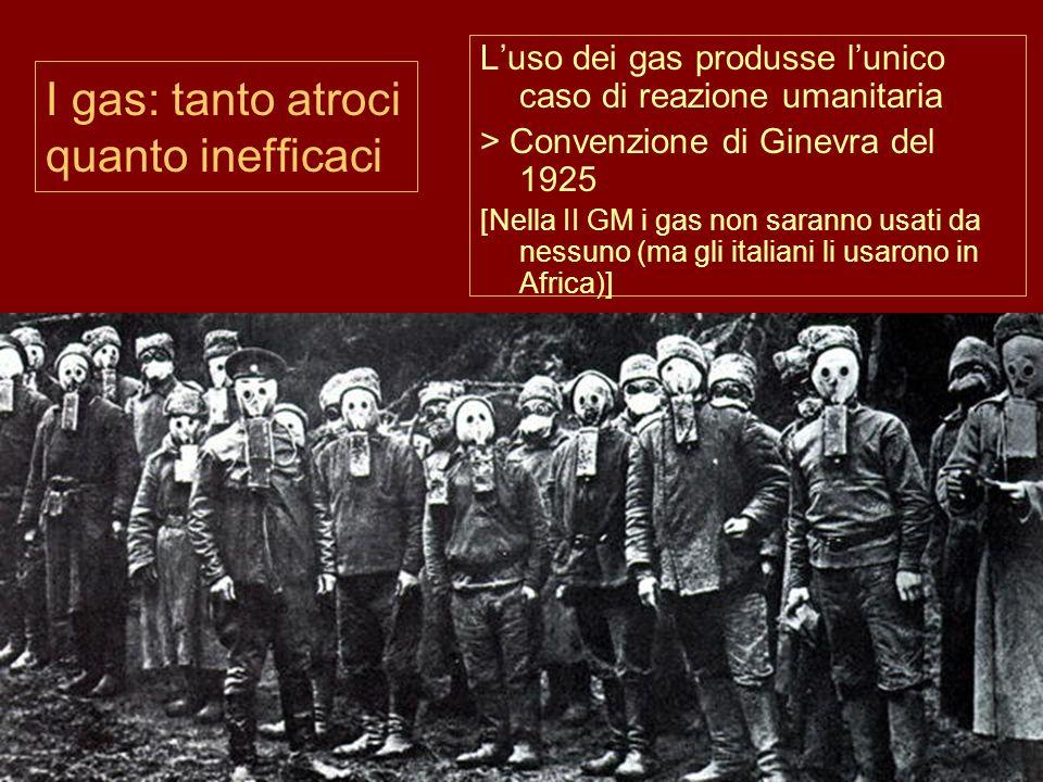 I gas: tanto atroci quanto inefficaci