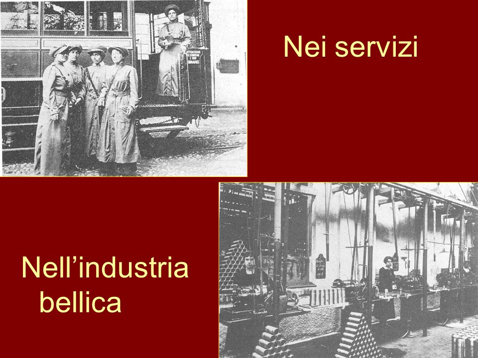 Nei servizi Nell'industria bellica