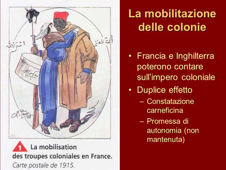 La mobilitazione delle colonie
