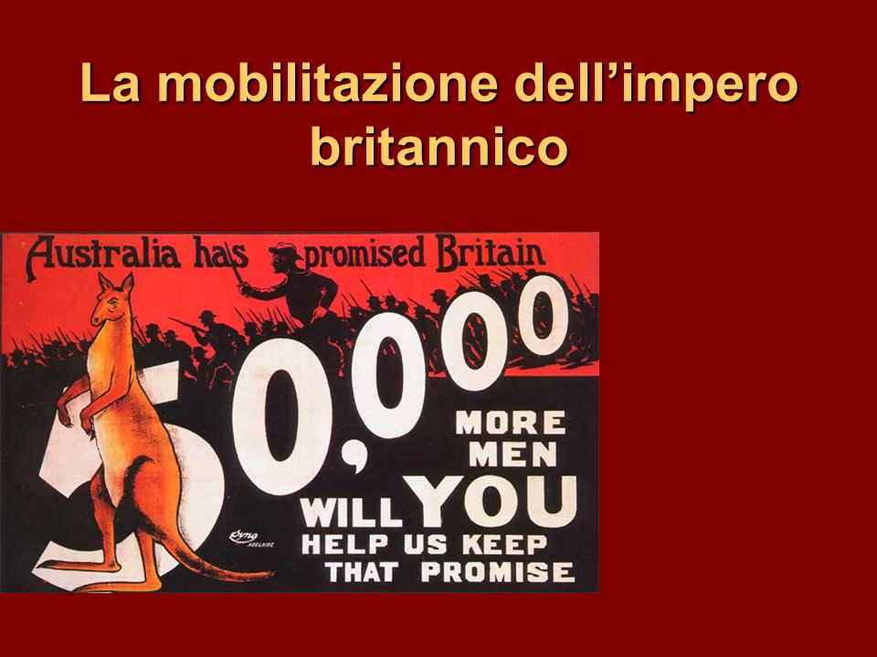 La mobilitazione dell'impero britannico
