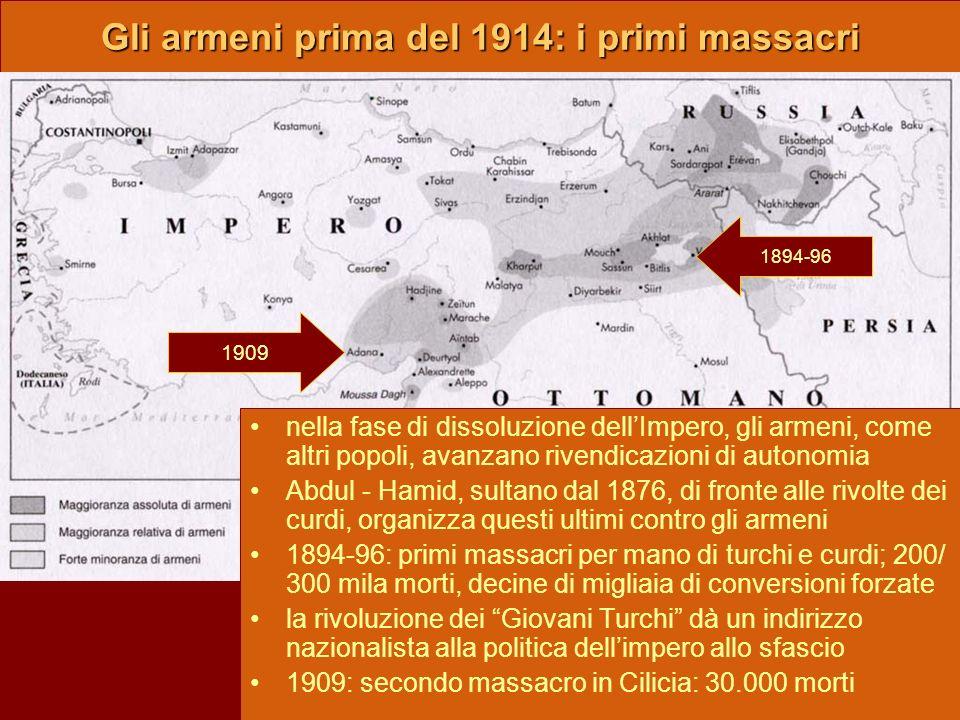 Gli armeni prima del 1914: i primi massacri