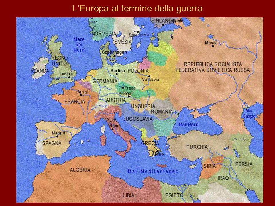 L'Europa al termine della guerra