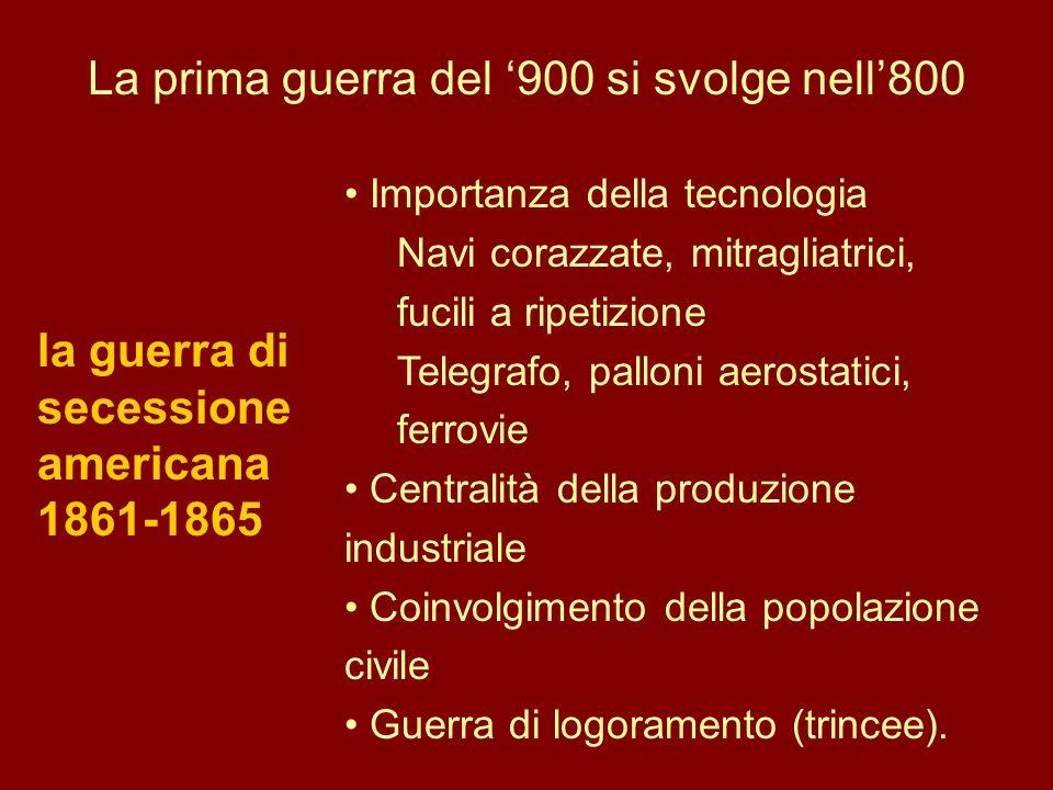 La prima guerra del '900 si svolge nell'800