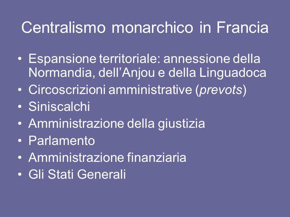 Centralismo monarchico in Francia