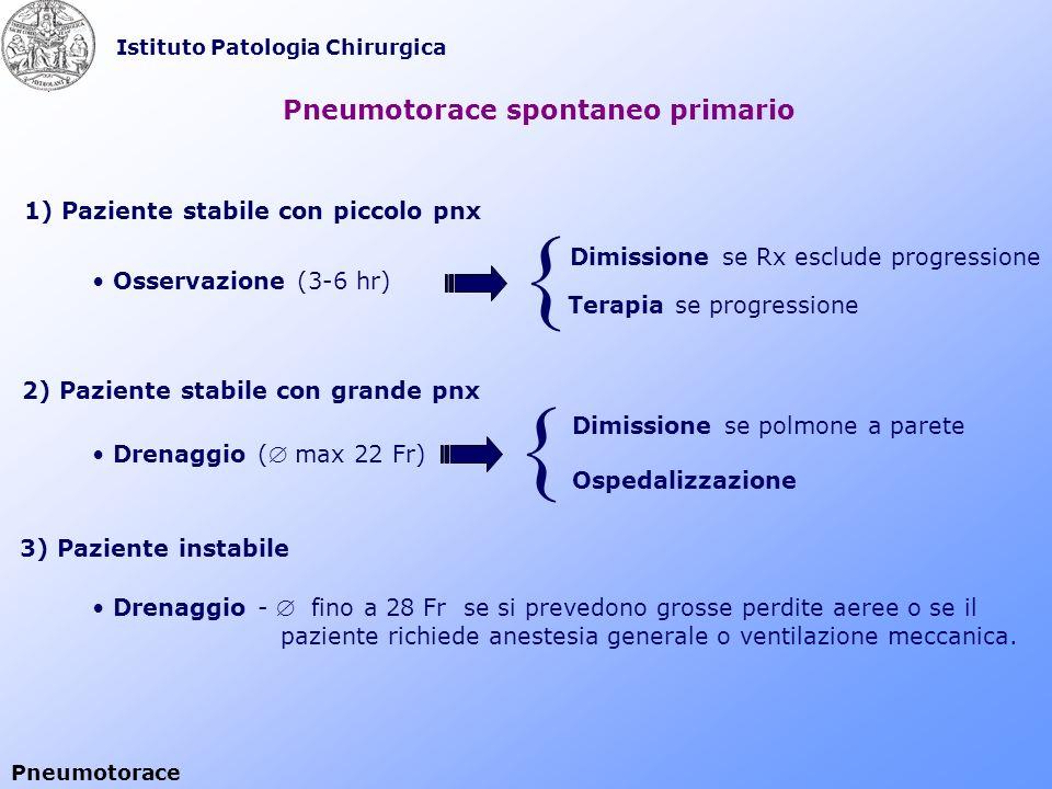 { { Pneumotorace spontaneo primario