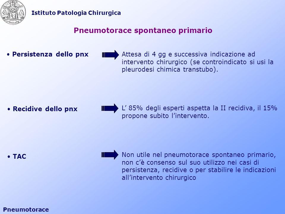Pneumotorace spontaneo primario