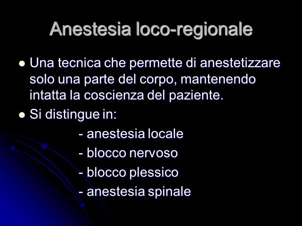 Anestesia loco-regionale