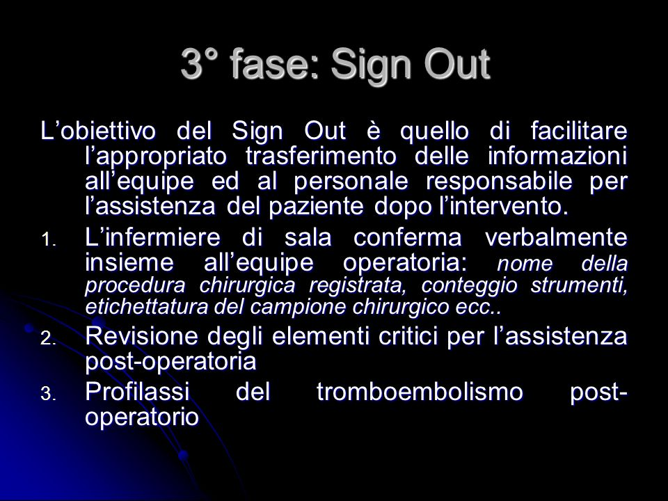 3° fase: Sign Out