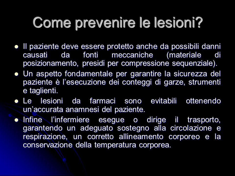 Come prevenire le lesioni