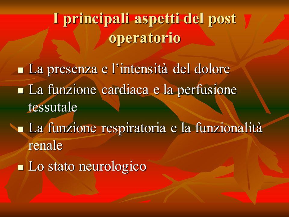 I principali aspetti del post operatorio