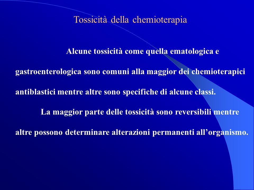 Tossicità della chemioterapia