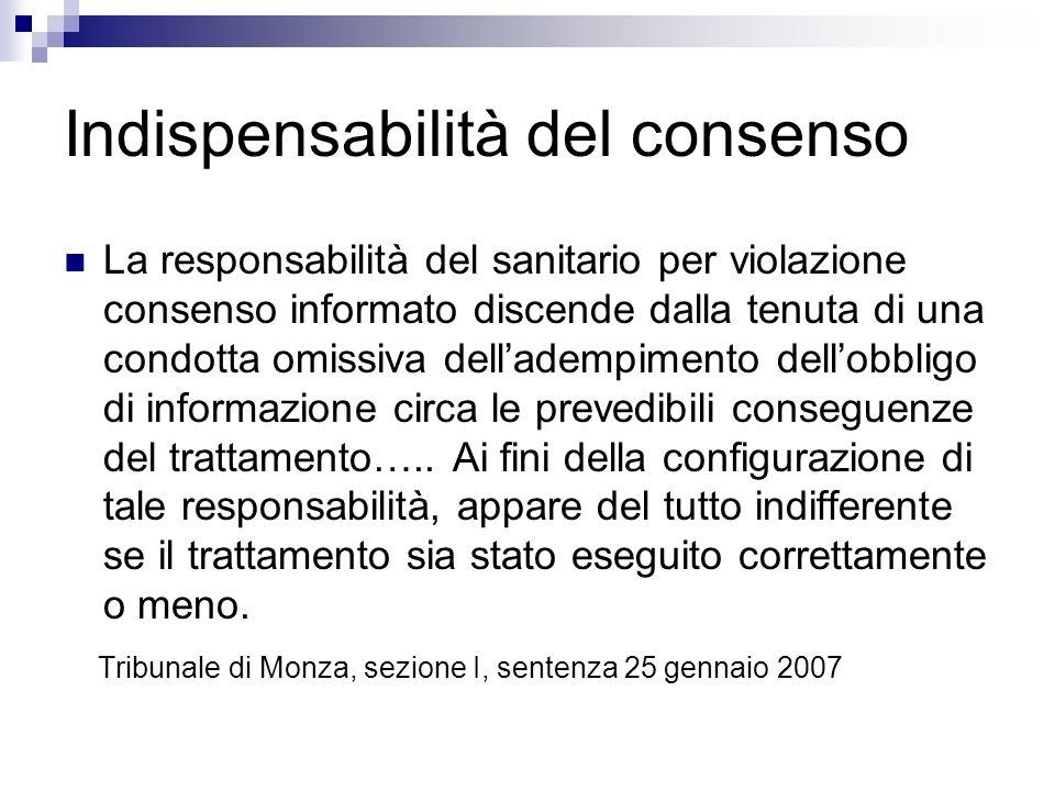 Indispensabilità del consenso