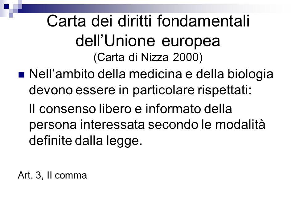 Carta dei diritti fondamentali dell'Unione europea (Carta di Nizza 2000)