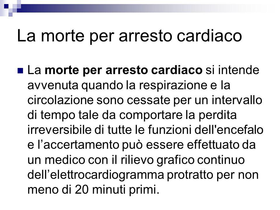 La morte per arresto cardiaco
