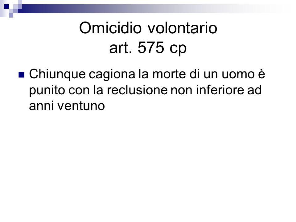 Omicidio volontario art. 575 cp
