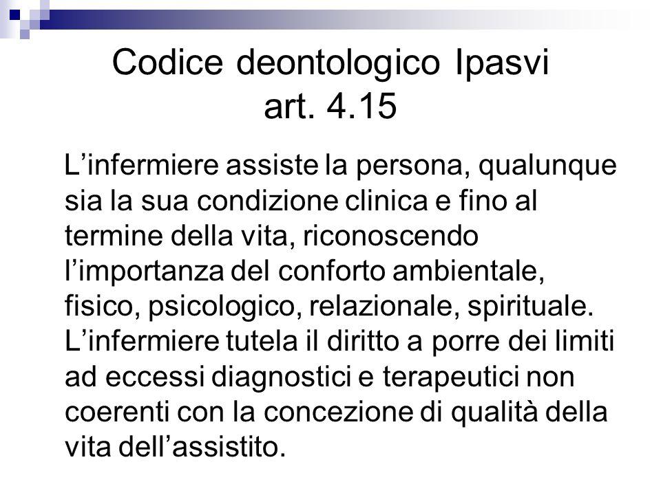 Codice deontologico Ipasvi art. 4.15