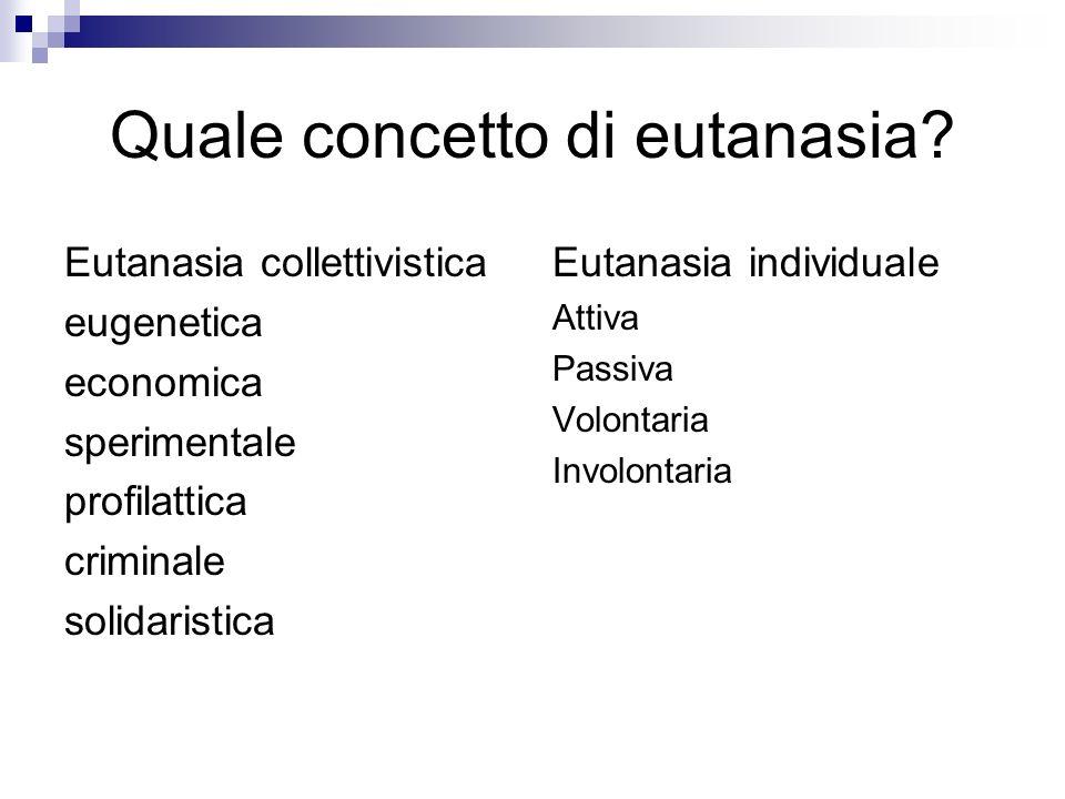 Quale concetto di eutanasia