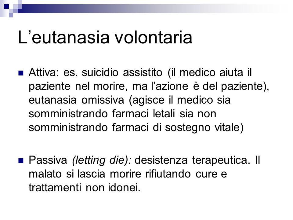 L'eutanasia volontaria
