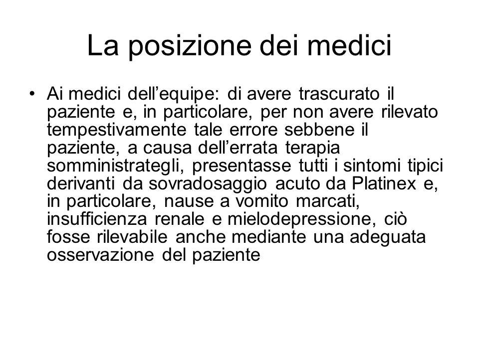 La posizione dei medici