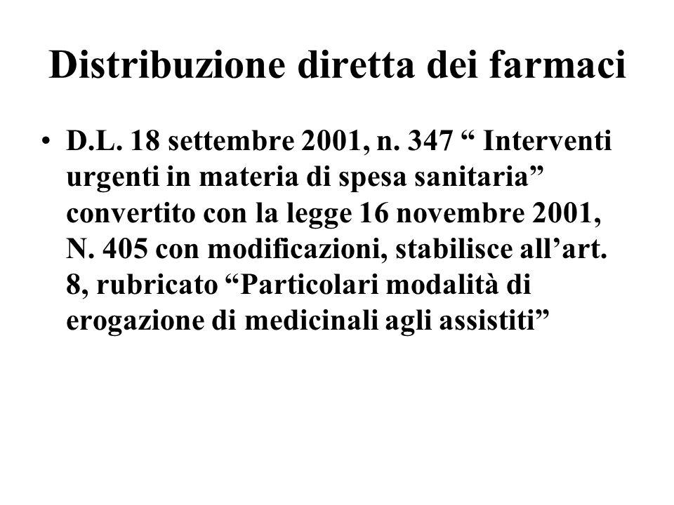 Distribuzione diretta dei farmaci