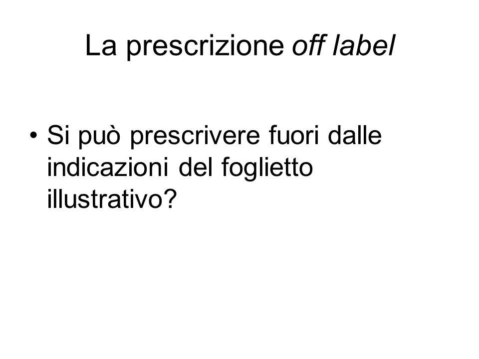 La prescrizione off label
