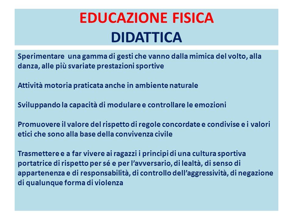 EDUCAZIONE FISICA DIDATTICA