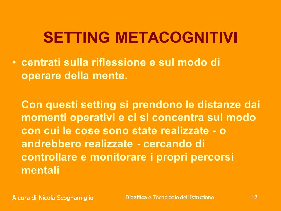 SETTING METACOGNITIVI
