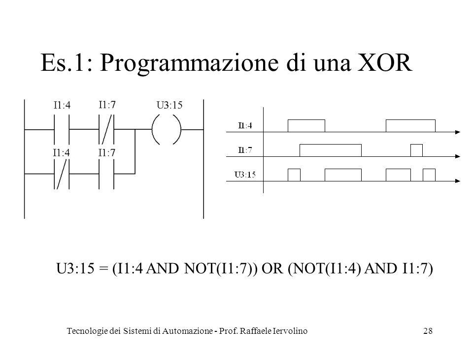 Es.1: Programmazione di una XOR
