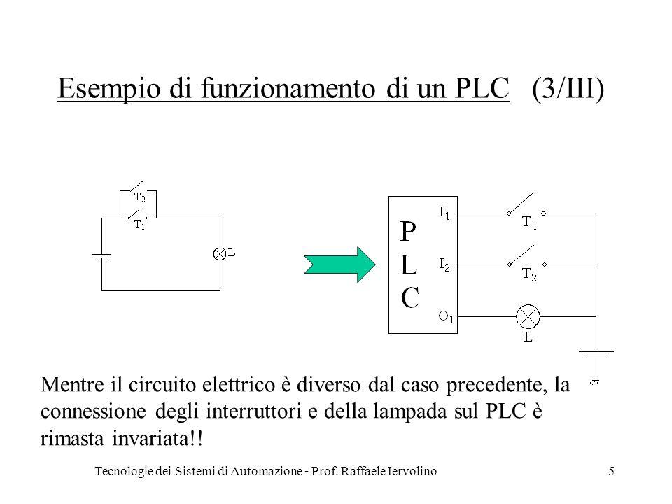 Esempio di funzionamento di un PLC (3/III)