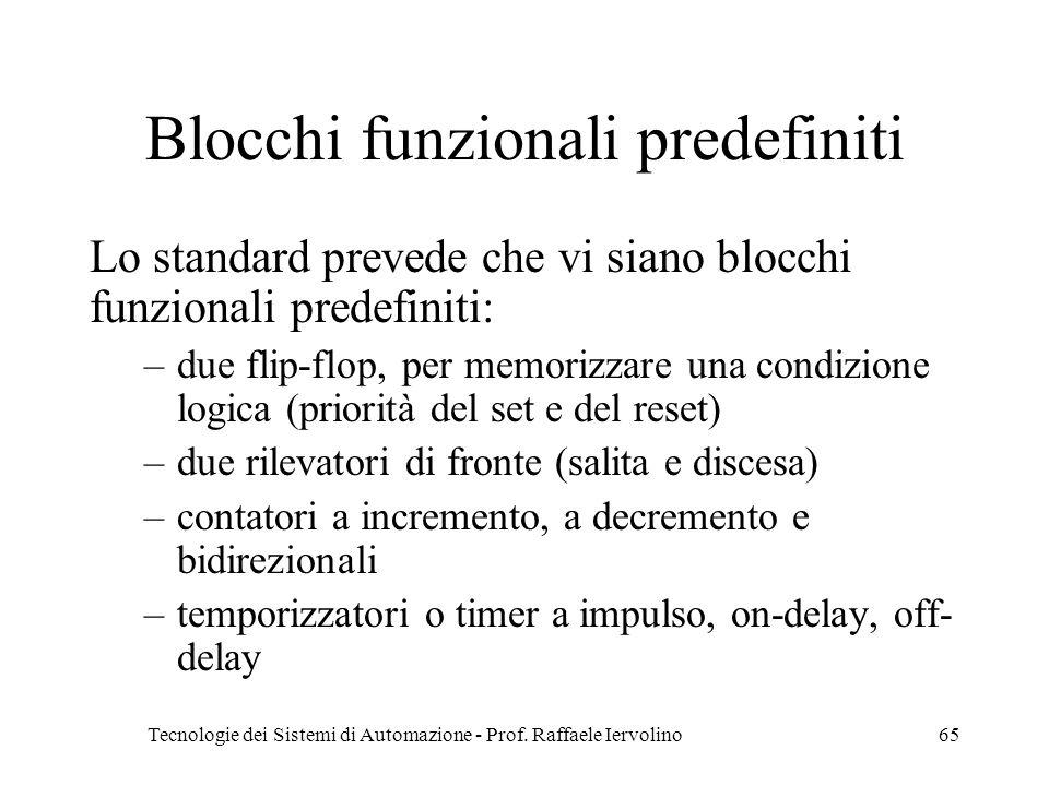 Blocchi funzionali predefiniti