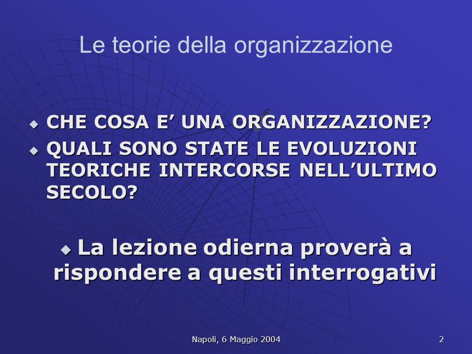 Le teorie della organizzazione