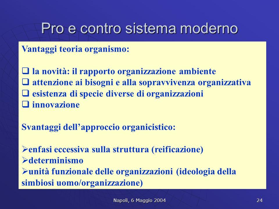 Pro e contro sistema moderno