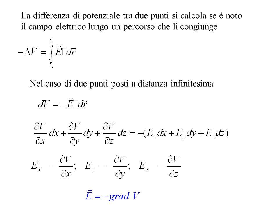 La differenza di potenziale tra due punti si calcola se è noto