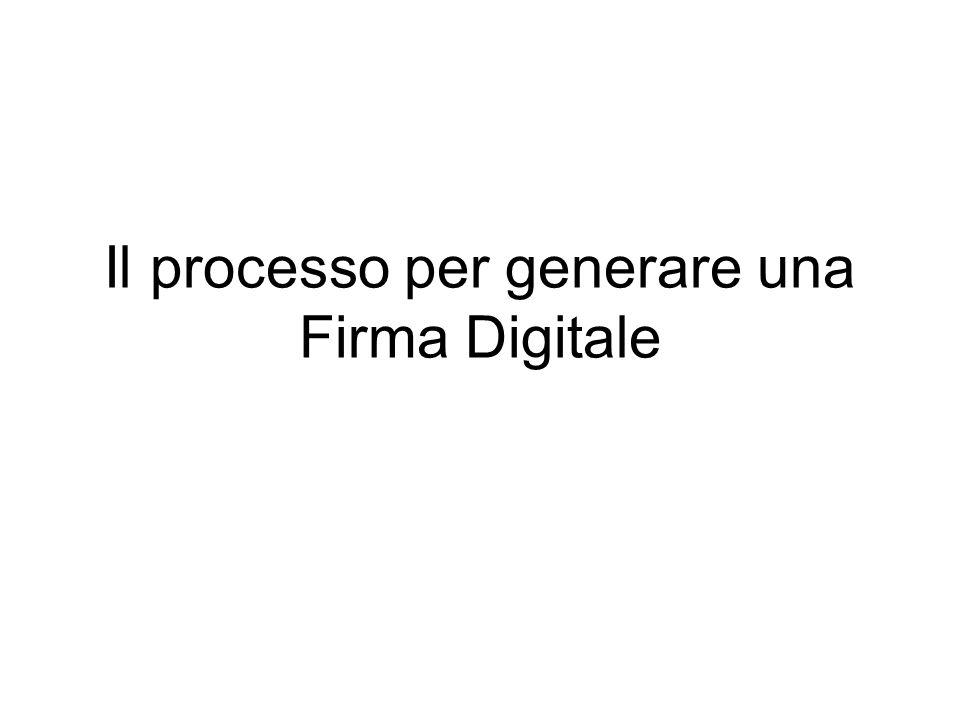Il processo per generare una Firma Digitale