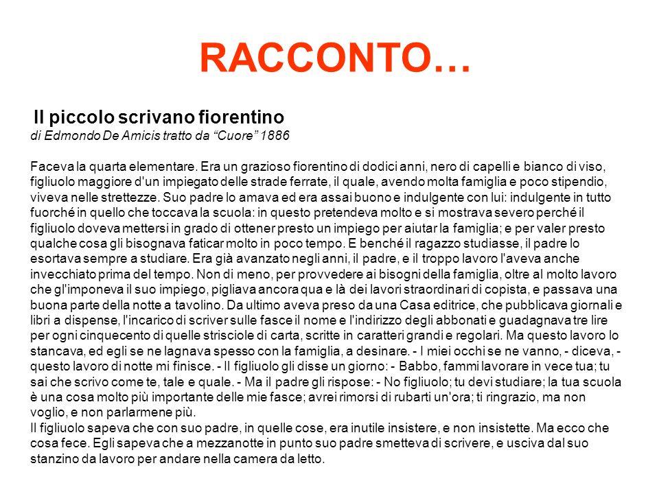 RACCONTO… Il piccolo scrivano fiorentino