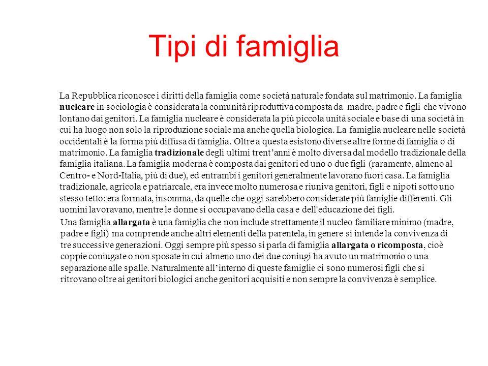 La famiglia ppt scaricare for Tipi di case in italia
