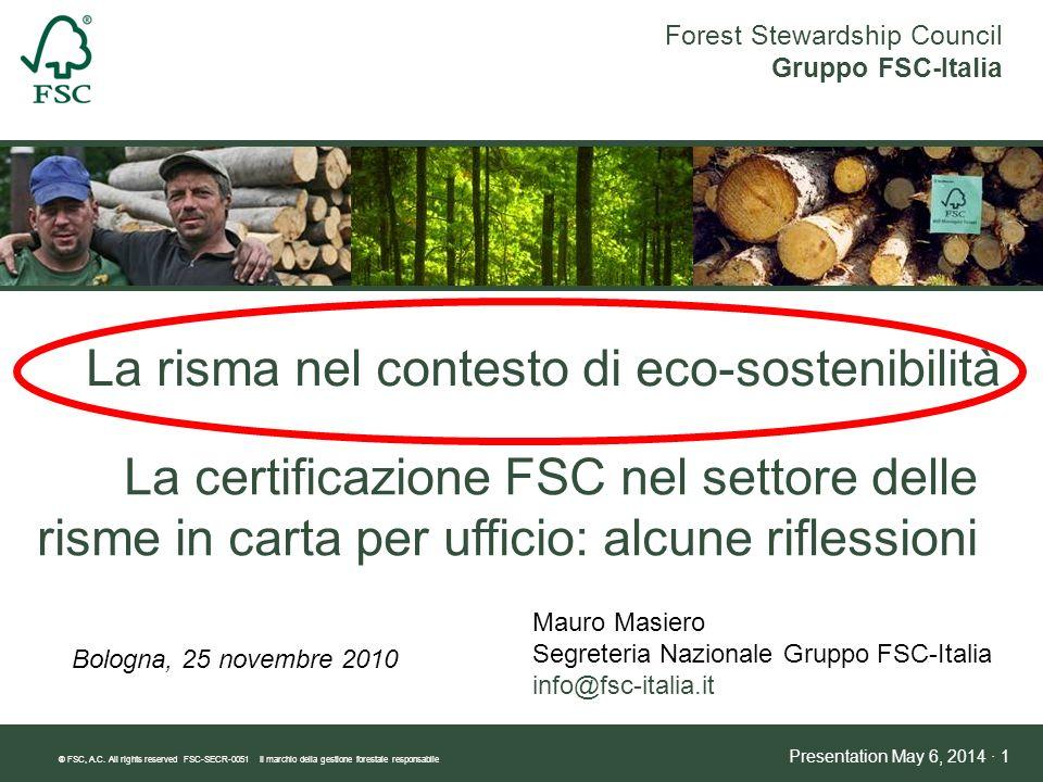 La risma nel contesto di eco-sostenibilità
